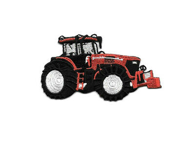 Farm Tractor - Farm Equipment - Red - Farmer - Embroidered Iron On Patch - Right for sale  Shipping to India