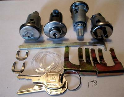 1963 Chevrolet Impala Biscayne Bel Air door trunk glove box lock set 178