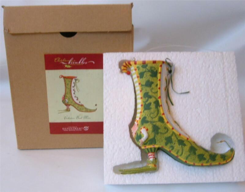 Dept 56 Krinkles Patience Brewster Xmas Ornament Shoe Figure Victorian Boot Man