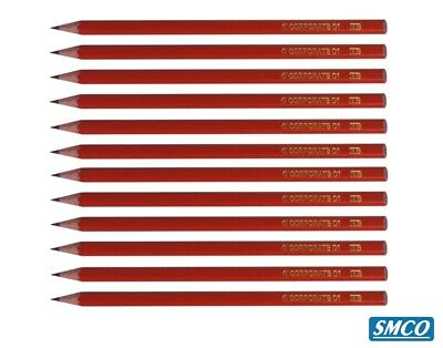 Qty 12 Hb Pencils Quality Woodcase Traditional School Pencil Corporate C1 Bysmco