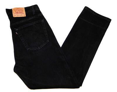 """* Levi's * Mens Vintage 505 Jeans 38""""W X 34""""L Regular Fit Black Made USA (G249)"""