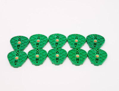 Dental Plastic Disposable Oblong Articulating Mounting Plates Green Bag Of 10