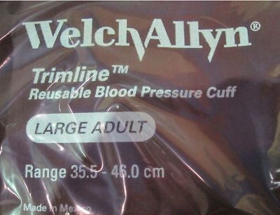 Welch Allyn Trimline Reuseable Blood Pressure Cuffs 3602smq Large Adult Lot 4