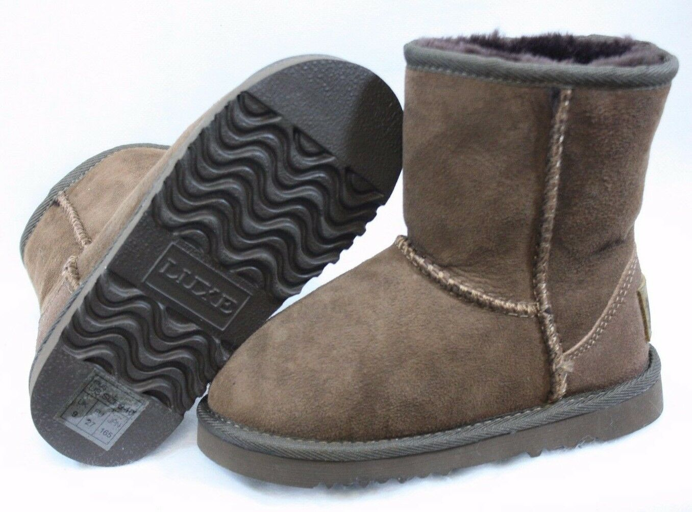 NEW Infant Toddler Girls Kids Size 9 / 10 AUSTRALIA LUXE Chocolate Boots Shoes