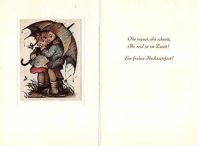 "RARITÄT Original Hummel Faltkarte um 1950 Ars sacra Verlag ""1167"" unbeschrieben"