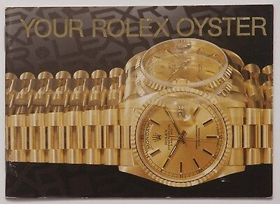 Genuine Your Rolex Oyster 1993 English Manual Booklet Papers Book Guide