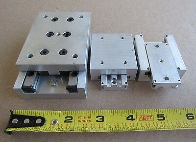 3 Pcs Schneeberger Linear Table Positioning 18mmx44mmx50mm 28mmx60mmx80mm