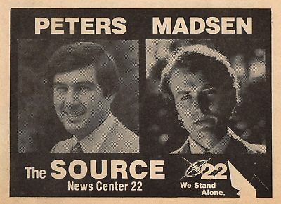 1980 Wwlp Tv News Ad Norm Peters Dave Madsen Springfield Massachusetts