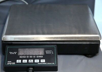 Used Transtronic 100 Cap. Postal Scale With Digital Readout Model Sp100