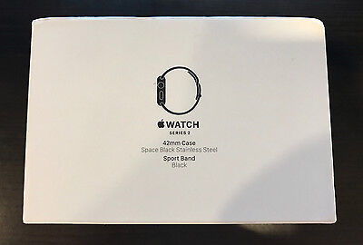 Apple Watch Series 2 42Mm Space Black Stainless Steel Black Sport Band Mp4a2ll