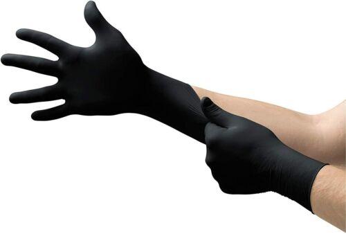 Black Disposable Nitrile Gloves, Latex-Free, Powder-Free, LARGE, 100 per box