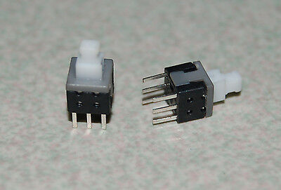 2 Pcs Torch Latching Tact Tactile Push Button Switch Dpdt 6 Pin Dip 5.8 X 5.8mm