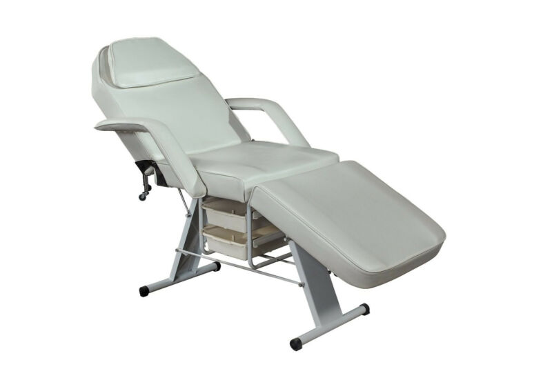 Portable Dental Chair + Stool Package (White)