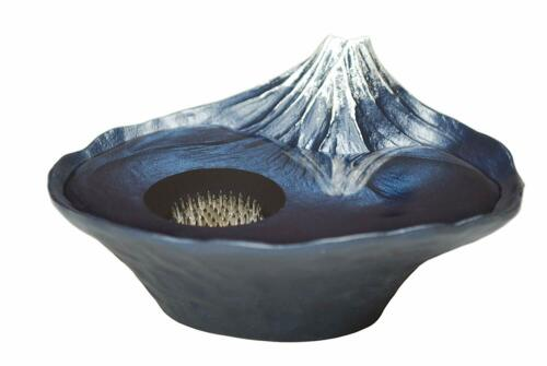 The Reflection of Mt. Fuji Flower Vase SUIBAN IKEBANA Basin KENZAN Color Blue