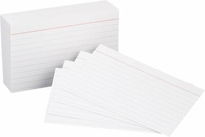 Heavy Weight Ruled Lined Index Cards White 3x5 Inch Card 100-count