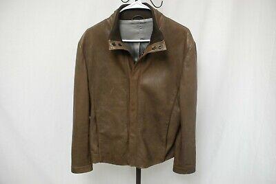 $2K GIORGIO ARMANI BLACK LABEL men's perforated leather jacket EU 50 US 40 / S M