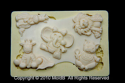 Sugarcraft Molds Silicone Moulds Cupcake, Clay,Chocolate,soap -Cute Animal#4