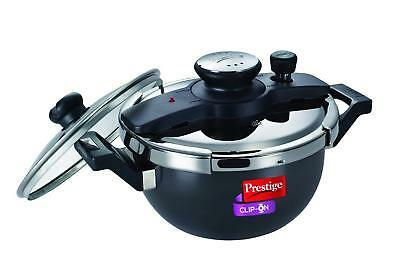 Prestige Clip On H/A Aluminum Kadai|Wok|Pressure Cooker Set|3.5L|Induction|Gas