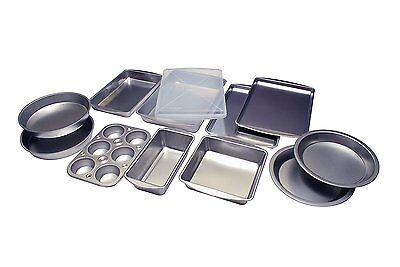 Bakeware Set Stainless Steel Non-Stick Pizza Pan Sheet Bake Cake 12 Piece