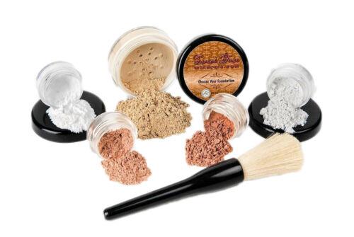 6pc STARTER KIT  Mineral Makeup Sample Size Set Bare Face Ma