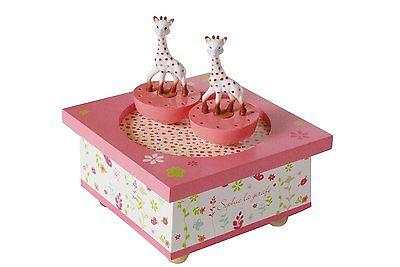 Trousselier T95061 Musikalische Hölzerne Spieluhr Sophie die Giraffe Neu & OVP