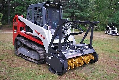 Bradco Skid Steer Mulcher Attachment 60 W Teeth - Take Down 8 Trees
