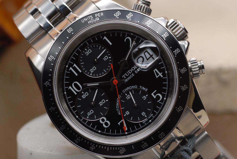 VINTAGE ROLEX TUDOR CHRONOGRAPH DAYTONA 79260 BLACK DIAL APPEARS NOS  10/10 - watch picture 1
