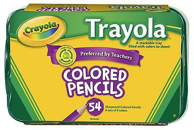 Crayola 54 Colored Pencils , Vibrant Colors, Pre-sharpened, for Adult Coloring