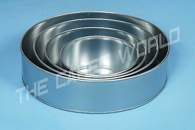 "SET OF 4-PIECE ROUND SHAPE CAKE BAKING PANS BY EURO TINS 6"" 8"" 10"" 12"" (4"" DEEP)"