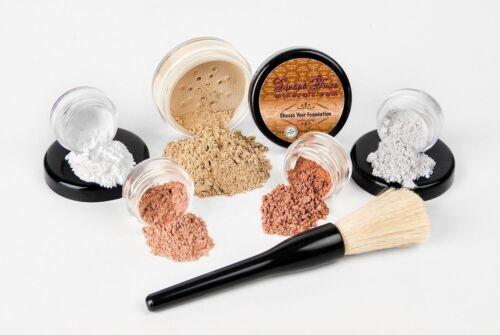 6 pc. STARTER KIT Mineral Makeup Set Bare Skin Matte Foundat