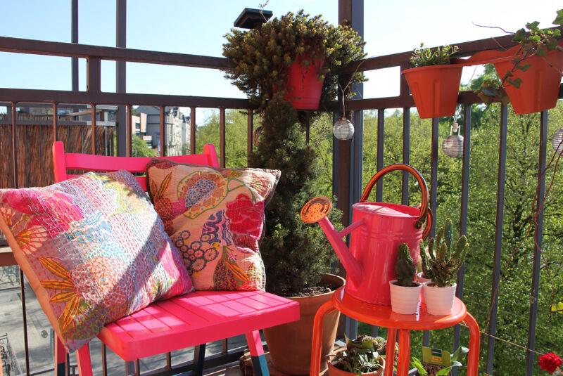 Pink Paradise: Hier lässt's sich im Sommer aushalten. (© Sina Huth)