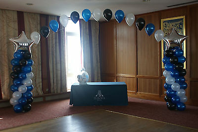Large Buffet Table BALLOON ARCH with STARS COLUMNS WEDDING PARTY Birthday (Large Sideboard Table)