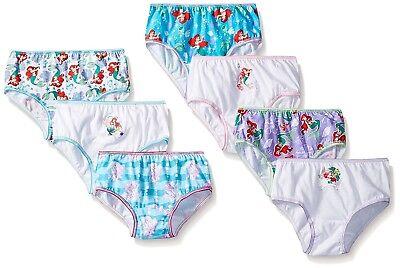 Ariel Unterwäsche (The Little Mermaid Girls Briefs Ariel Panties 7-Pack Sizes 4, 6, 8)