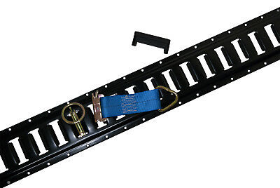 16 piece E Track Kit 4444 Combo Deal w D Rings  6 Rope Tie Offs