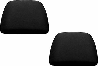 SOLID BLACK 2 PIECES SET CAR SEAT HEADREST COVERS FOR CAR TRUCK SUV VAN - 1 PAIR