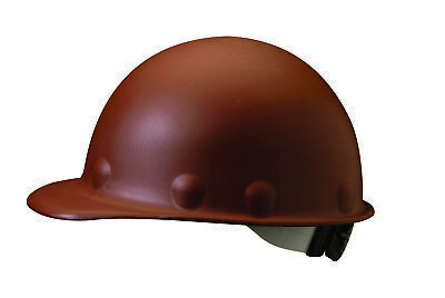 Fibre-Metal Roughneck Cap Style Hard Hat with 8 Point Ratchet Suspension, Brown (Metal Cap Style Hard Hat)
