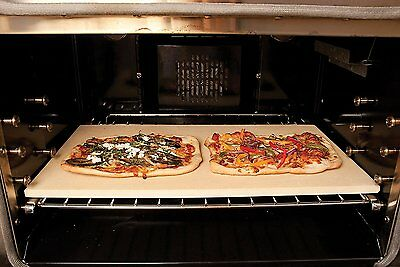 "Large Baking Stone 20"" Bakeware Pizza Bread Kitchen Grill Oven Rack Stoneware"