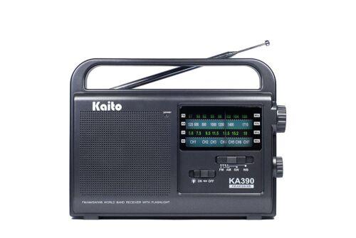 Kaito KA390 Portable AM/FM Shortwave NOAA Weather Radio with LED Flashlight