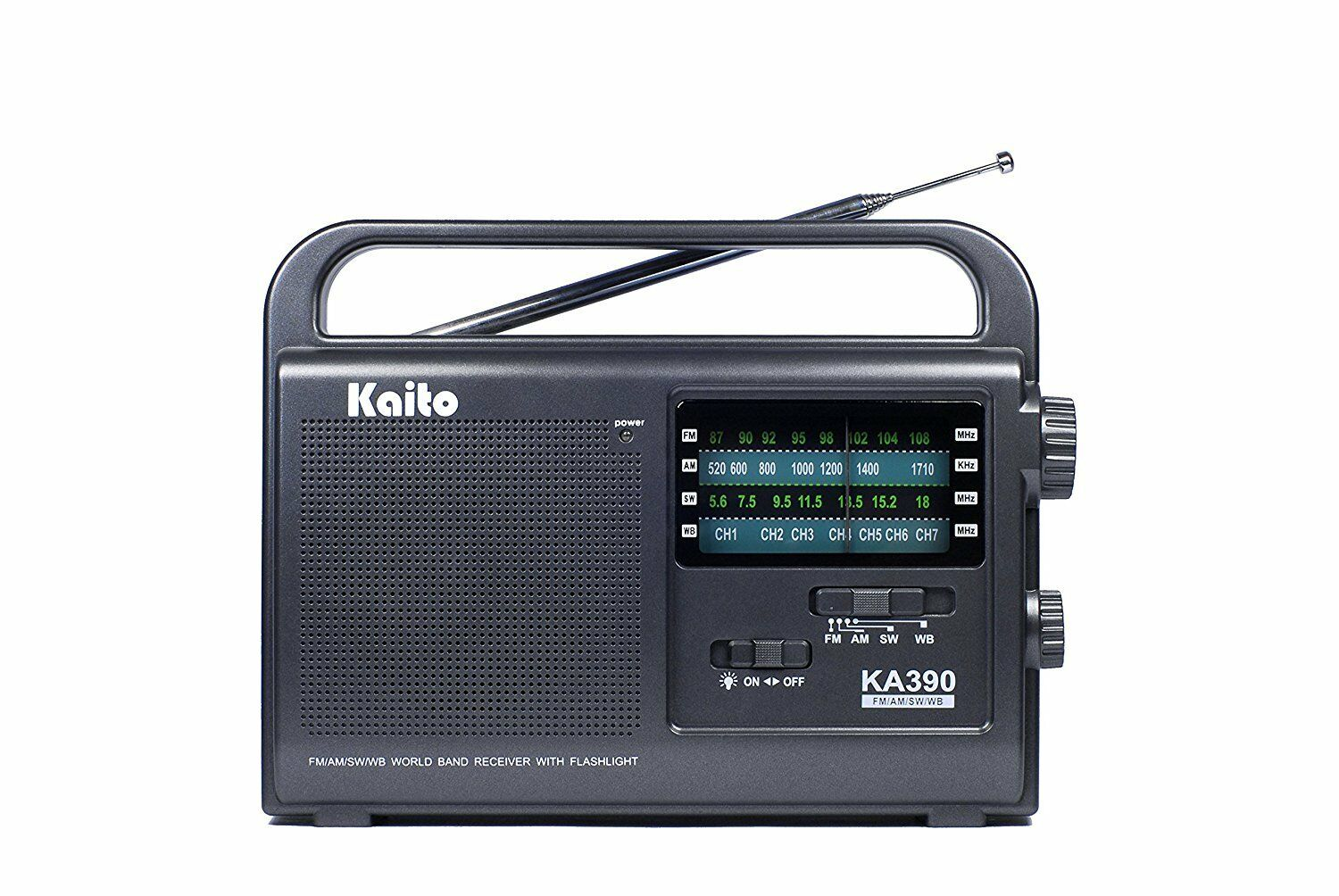 Kaito KA390 Portable AM/FM Shortwave NOAA Weather Radio with