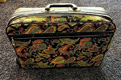 VTG 1960s Retro MOD Groovy Flower Power Bantam Travelware Luggage Suitcase Bag  (Sixties Flower Power)