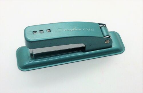 Vintage Swingline Cub Teal Green Stapler Made in the USA, Works Great