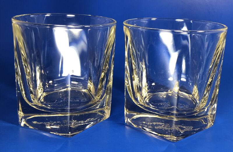 "Set Of 2 Canadian Club Classic Whisky Rocks Glass-3.5"" Tall x 3.25"""
