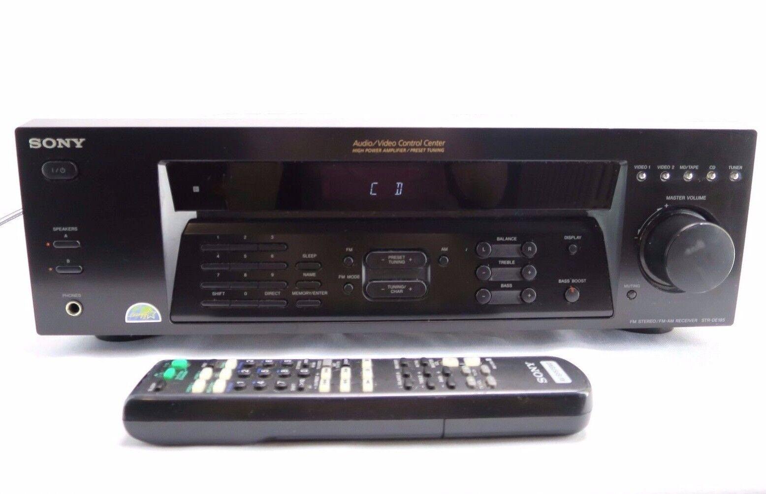sony str de185 stereo receiver 2 channel 100 watt. Black Bedroom Furniture Sets. Home Design Ideas