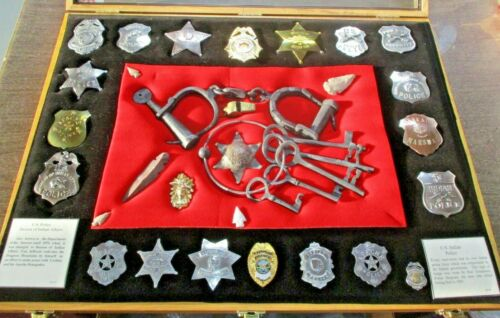 United States Indian Police Badges, Shackles Arrowheads Amazing Replica Display