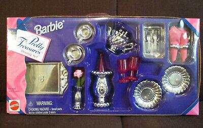 Barbie Pretty Treasures Dining Set 1996 Mattel New