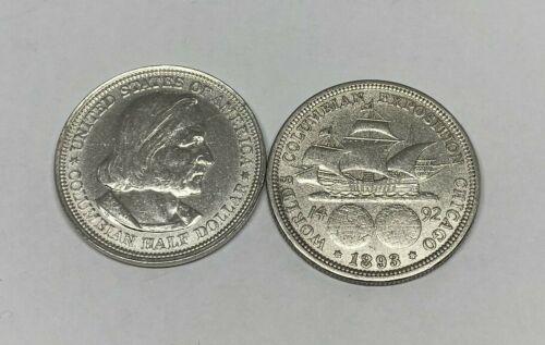 1893 Silver Columbian Exposition US Commemorative Half Dollar World