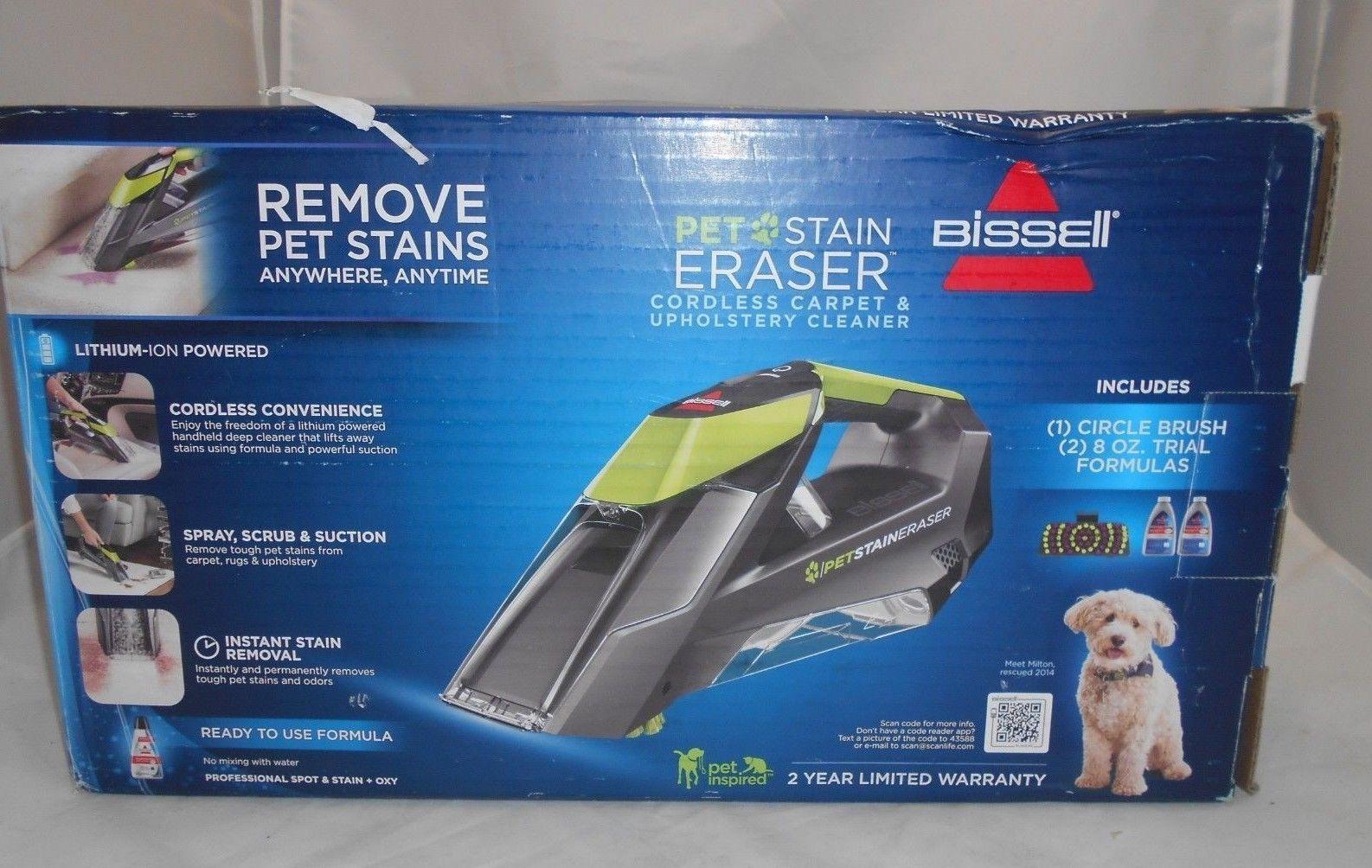Bisell 2003 Pet Stain Eraser Cordless Upholstery Carpet Cleaner Ebay
