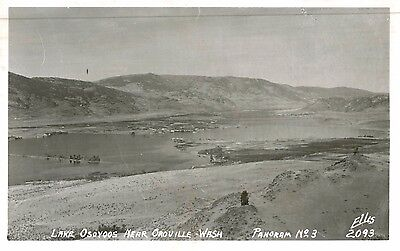 Rppc Lake Osoyoos Near Oroville Wa Okanogan County Ellis Photo C 1950S
