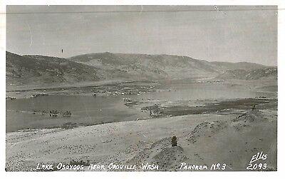 Rppc Lake Osoyoos Near Oroville Wa Okanogan County Ellis Photo C 1950S