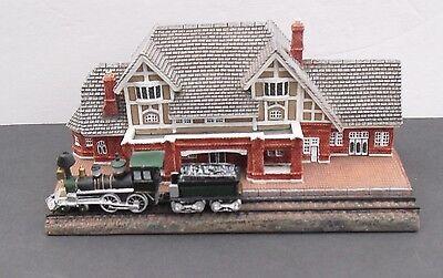 Danbury Mint Historic Rail Road Station FLAGSTAFF, ARIZONA In Original Box